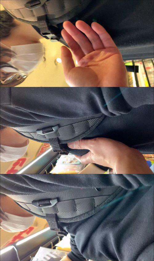 【おっぱいチカン】可愛いショートカットの学生さんのプルプルおっぱいを何度も何度もチカンしましたw