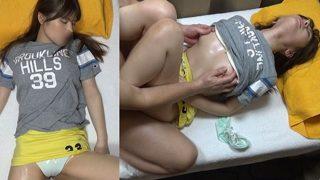 (ねむり姫vs整体師)ハーフ顔のドスケベお姉さんがクリオナしながらチンポで痙攣しまくる